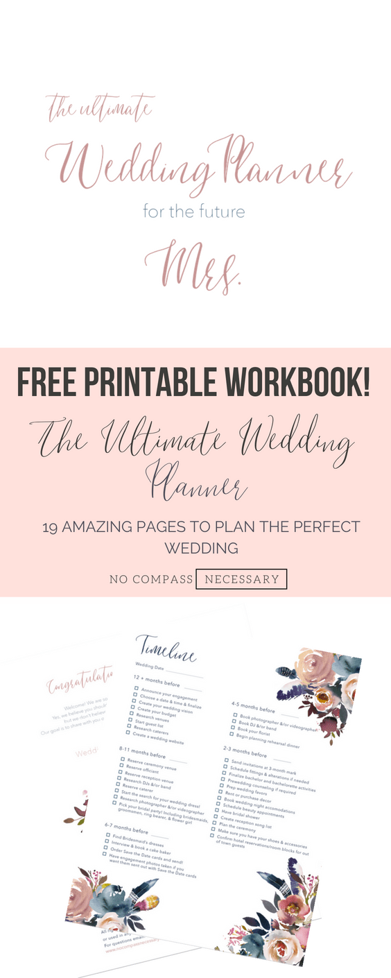 photo relating to Free Printable Wedding Planner Workbook called Wedding ceremony Planner Printable Workbook No Comp Needed